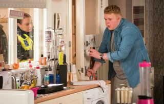 Why are the police after Coronation Street's Craig Tinker?