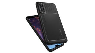 Front and back views of the Spigen Marked Armor Case for Huawei P20 Pro