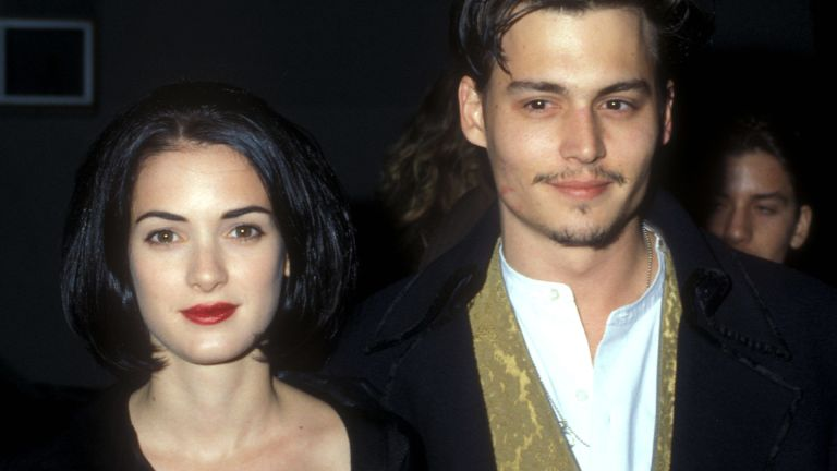 Winona Ryder & Johnny Depp in Los Angeles, California (Photo by Barry King/WireImage)