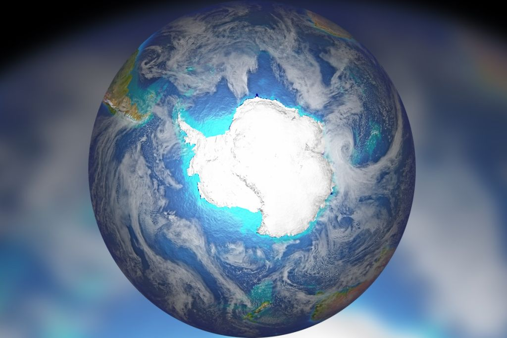 Antarctica's ice sheets responded most strongly to the angle of Earth's tilt on its axis when the ice extends into the oceans.