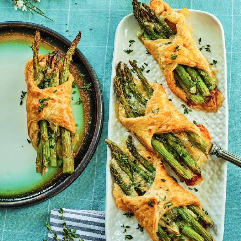 Asparagus and brie tart
