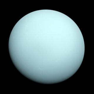 Uranus, like its neighbor Neptune, has only been studied once, by the Voyager 2 spacecraft — which captured this image on Dec. 18, 1986.