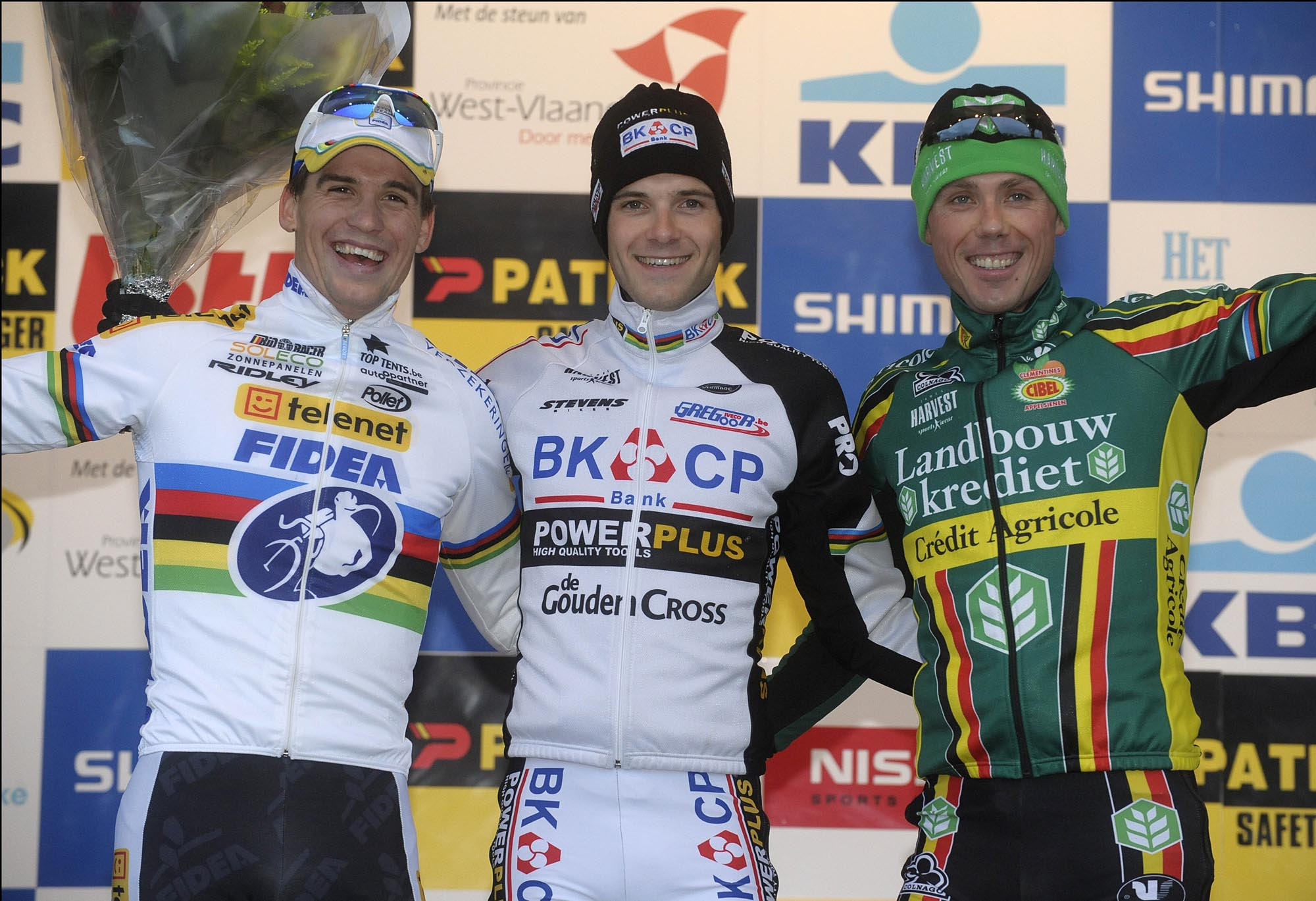 Albert tops podium, Koksijde cyclo-cross, UCI Cyclo-Cross World Cup 2010/2011