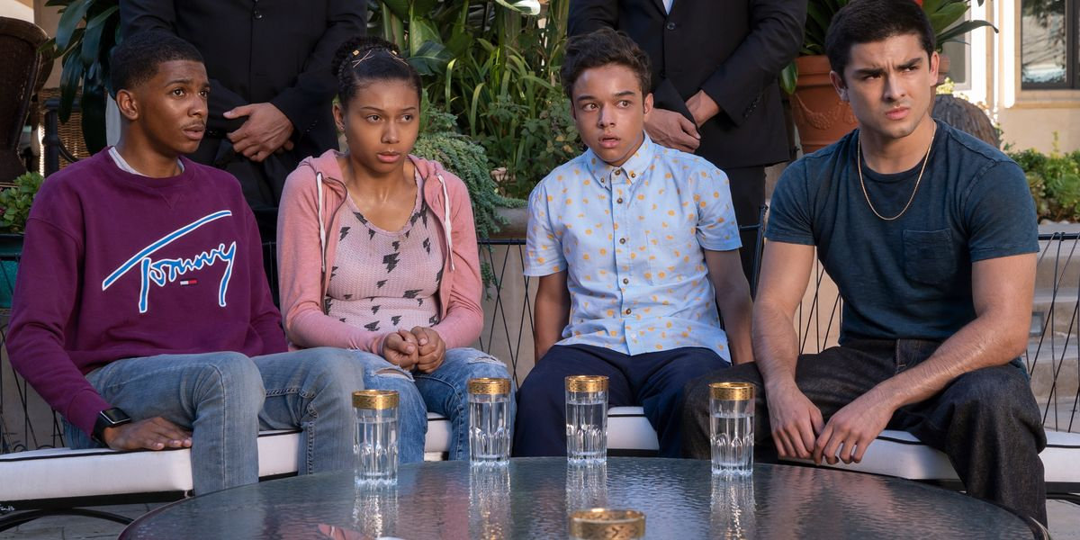 Some of the main characters of On My Block on Netflix.