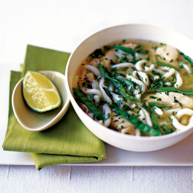 Chicken and Udon Noodle Broth with Lemongrass and Coriander Recipe-new recipes-woman and home