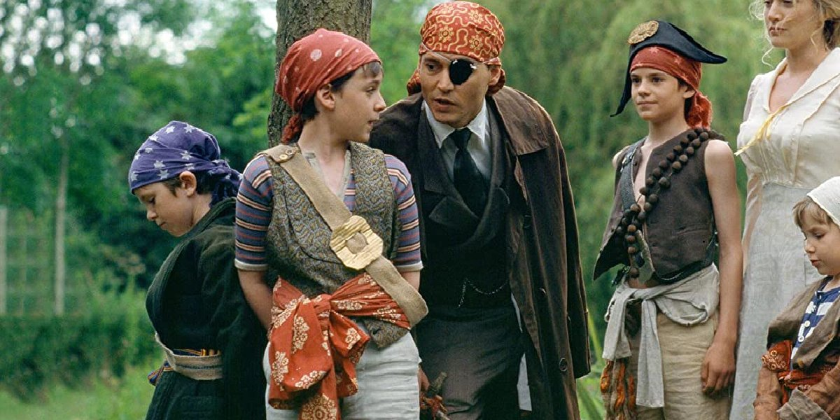 A scene from Finding Neverland, which The School for Good and Evil screenwriter David Magee wrote the screenplay for.