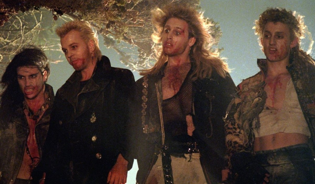 The Lost Boys gang lines up on a hill
