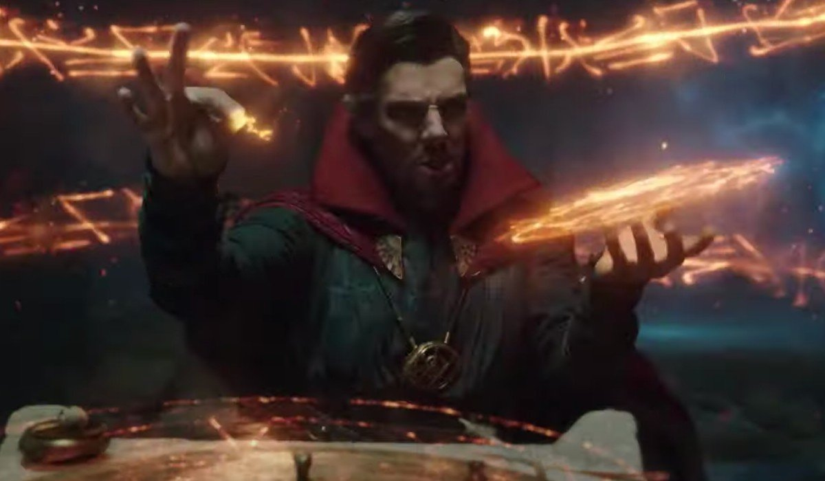 Doctor Strange casting a spell Spider-Man: Far From Home CBS