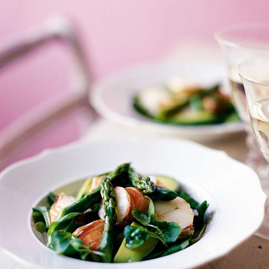 Lobster, Avocado and Asparagus Salad Recipe