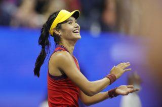 Emma Raducanu at the US Open.