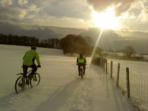 San Fairy Ann CC ride, 2010 snowy cycling photos