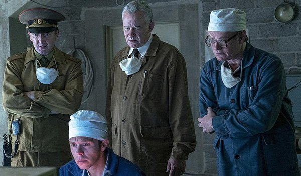 The cast of Chernobyl on HBO