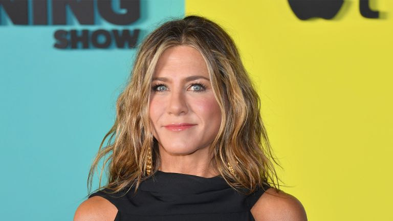 """US actress Jennifer Aniston arrives for Apples """"The Morning Show"""" global premiere at Lincoln Center- David Geffen Hall on October 28, 2019 in New York. (Photo by Angela Weiss / AFP) (Photo by ANGELA WEISS/AFP via Getty Images)"""