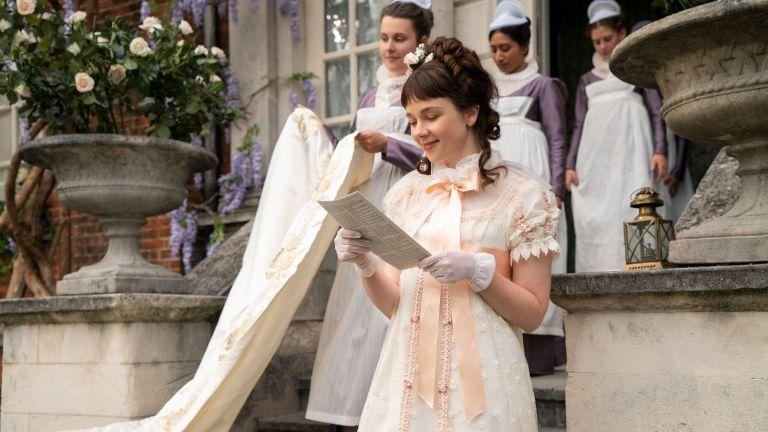 CLAUDIA JESSIE as ELOISE BRIDGERTON in episode 101 of BRIDGERTON