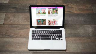 Laptop running Adobe Premiere Elements