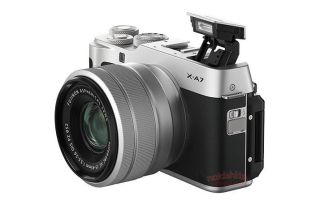 Fujifilm X-A7 images leak out, showing huge LCD and AF lever 2