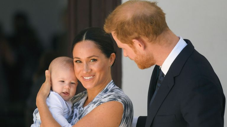Meghan Markle with Prince Harry and Archie