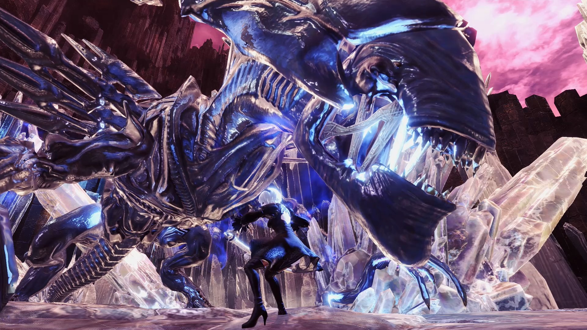 Fight The Alien Queen In This Monster Hunter World Mod Pc