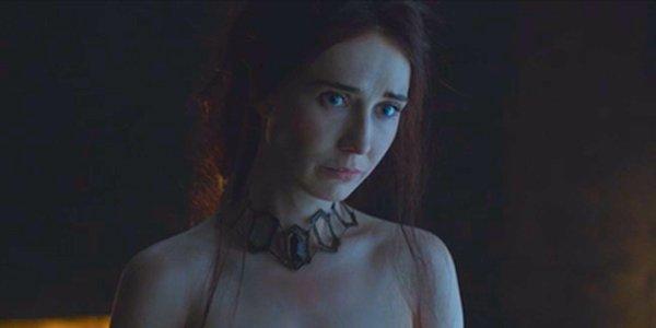 Melisandre disrobing in Game of Thrones