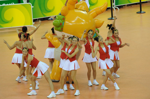 Laoshan cheerleaders