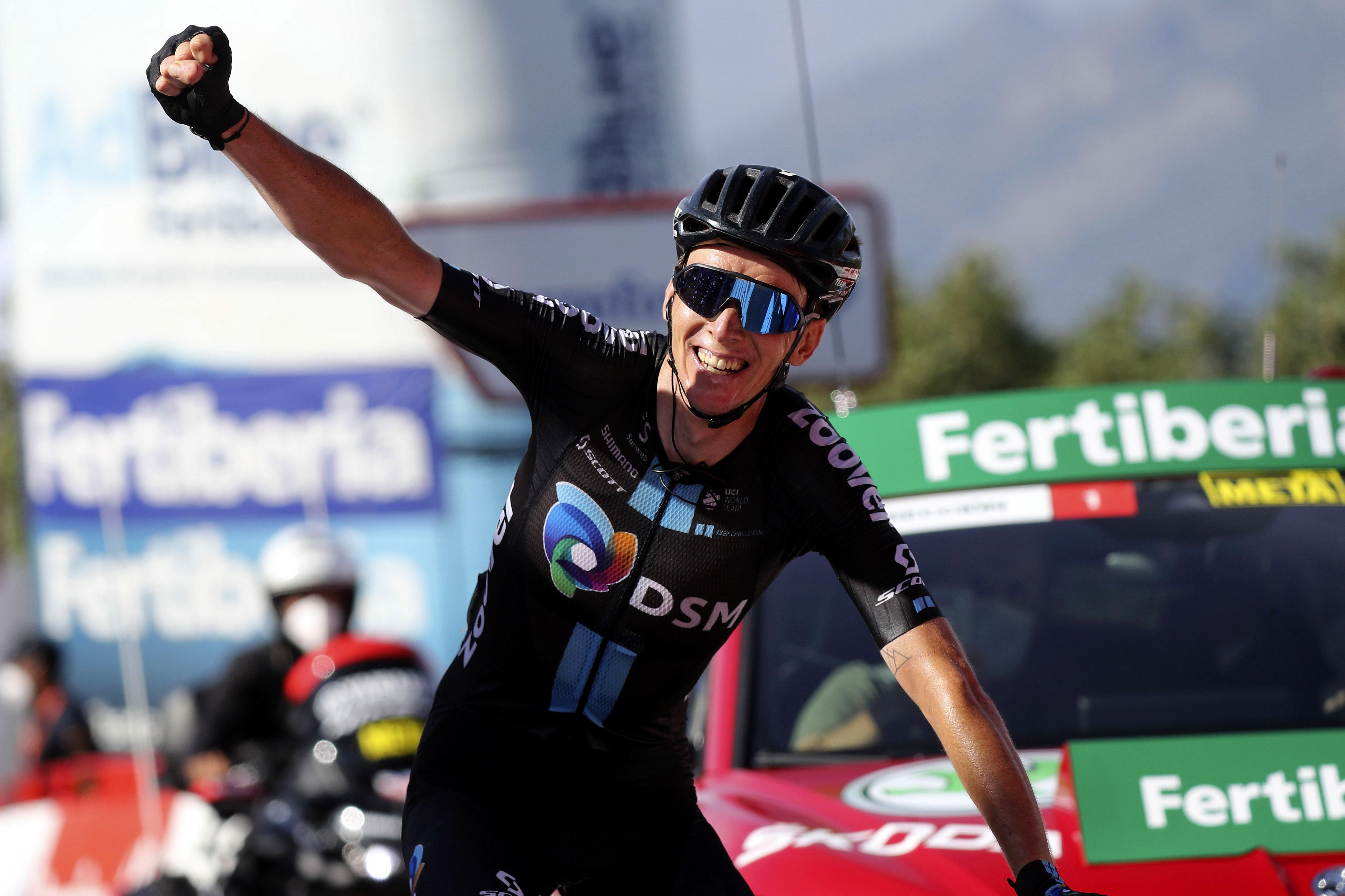 Vuelta Espana 2021 - 76th Edition - 14th stage Don Benito - Pico Villuercas 165,7 km - 28/08/2021 - Romain Bardet (FRA - Team DSM) - photo Luis Angel Gomez/BettiniPhoto©2021