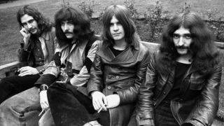 Black Sabbath, 1970 (left-right): Bill Ward, Tony Iommi, Ozzy Osbourne, and Geezer Butler