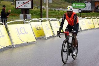 Nic Dlamini (Qhubeka NextHash) coming to the finish on stage 9 of the Tour de France
