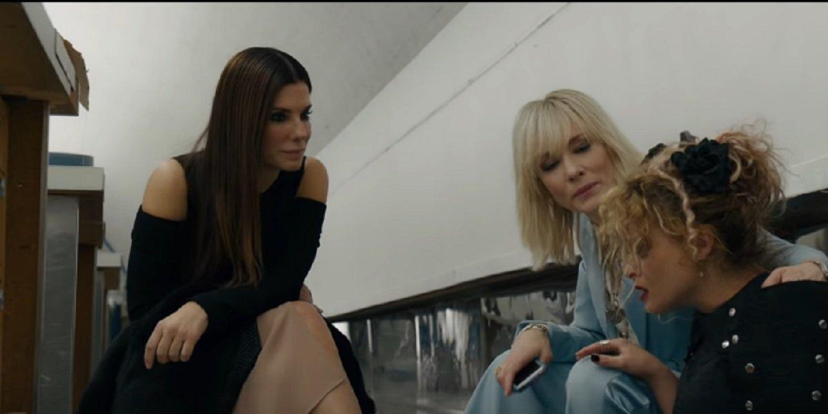 Helen Bonhem-Carter, Sandra Bullock, and Cate Blanchett in Ocean Eight
