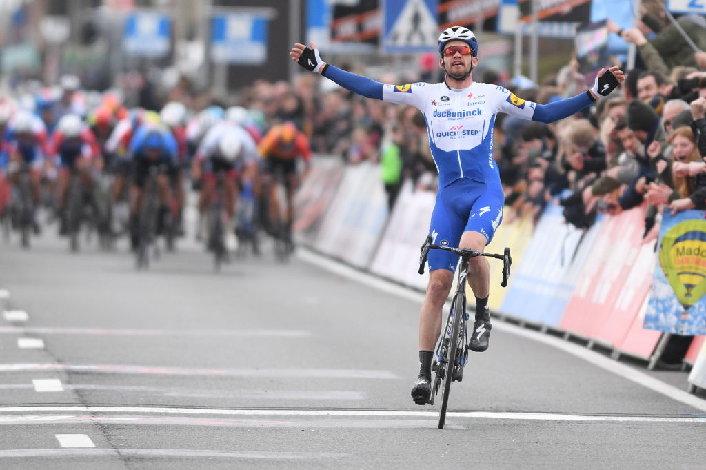 Kasper Asgreen wins the 2020 Kuurne-Brussel-Kuurne.
