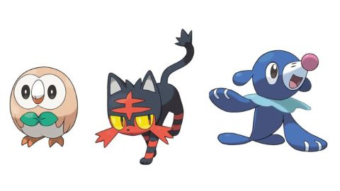 pokemon sun moon starters are an owl a cat or a sea lion and