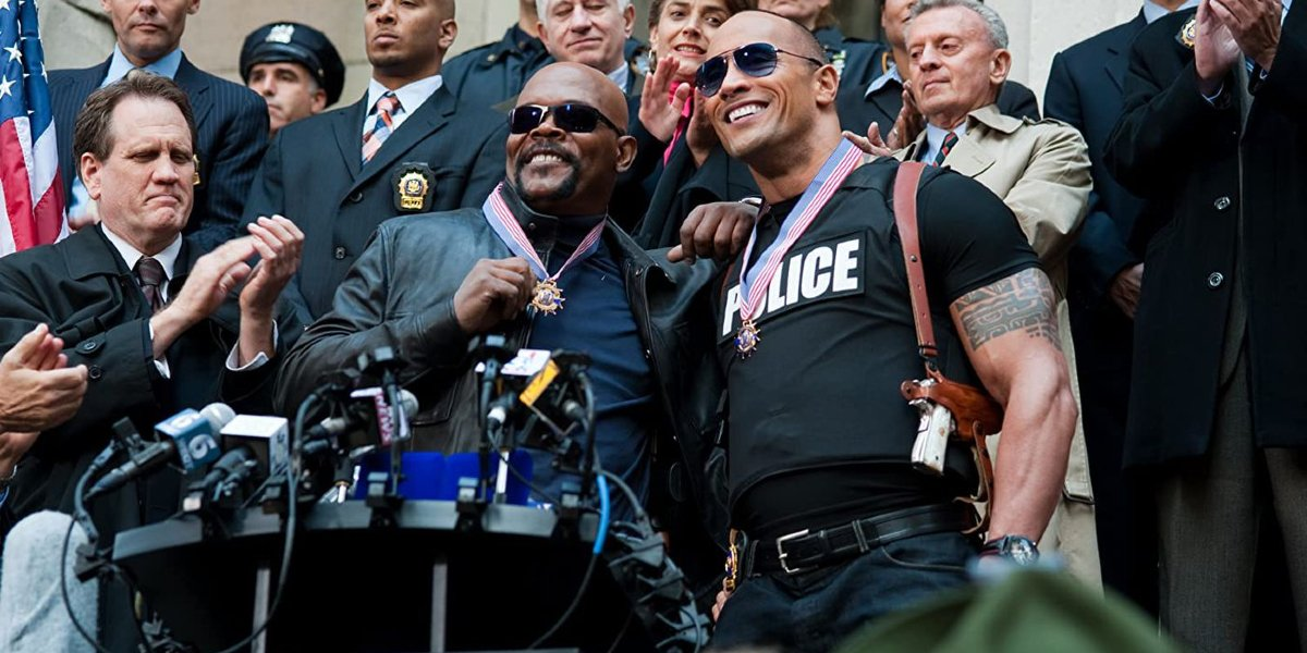 Samuel L. Jackson and Dwayne Johnson in The Other Guys