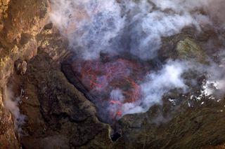 Erebus lava lake