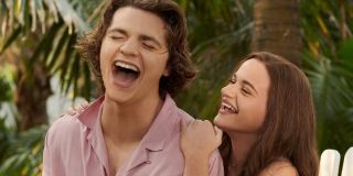 Joel Courtney and Joey King in The Kissing Booth 3