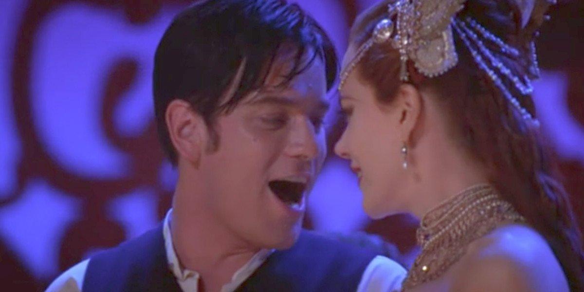 Ewan McGregor and Nicole Kidman in Moulin Rouge