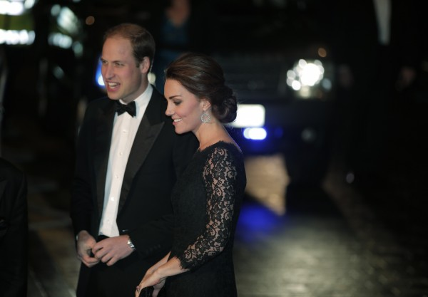 The Duke and Duchess of Cambridge arriving at the Royal Variety Performance together