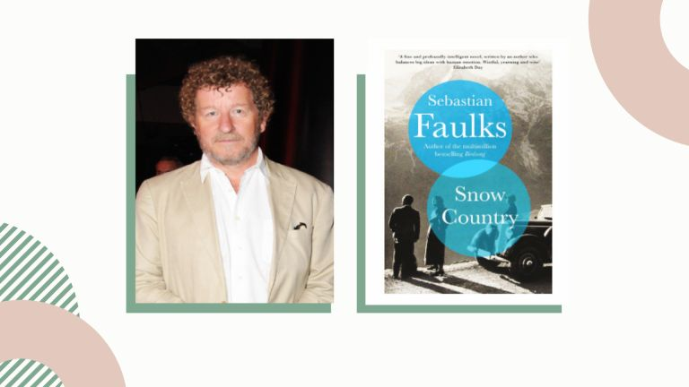 Sebastian Faulks headshot with book cover for Snow Country