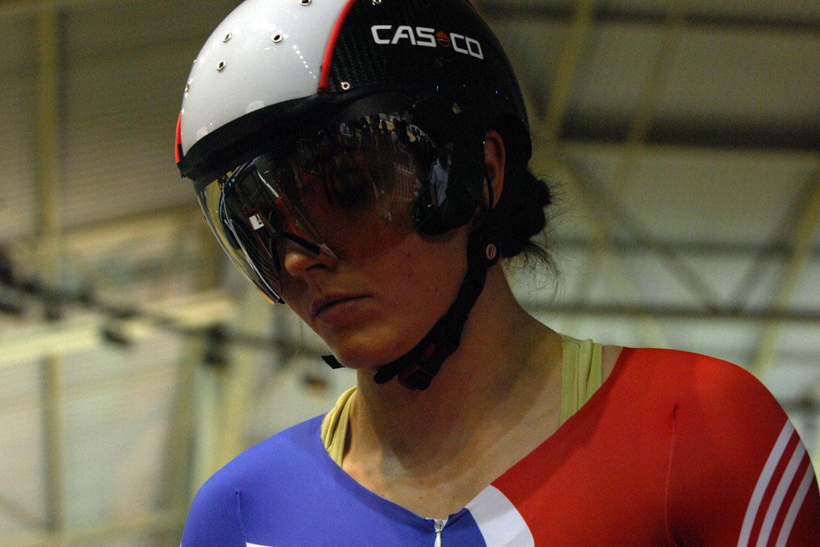 Victoria Pendleton Casco helmet
