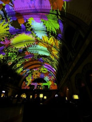 Christie Light Show in St. Louis Union Station