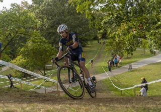 Vincent Baestaens of (Deschacht-hens-maes) won C1 contest at 2021 Rochester Cyclocross for elite men