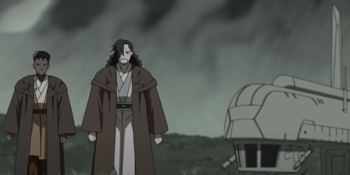 Jedi walk in the Star Wars: Visions short The Elder