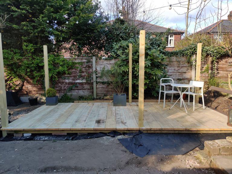 DIY scaffolding decking
