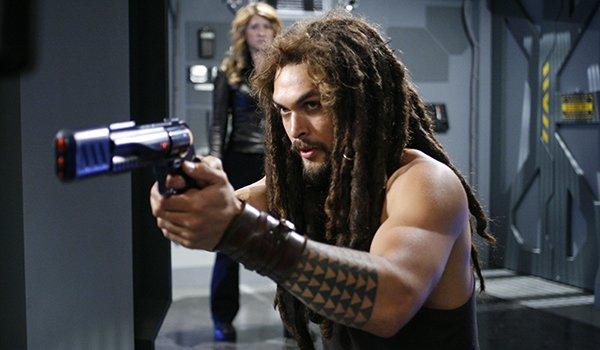 Ronon Dex wielding a blaster