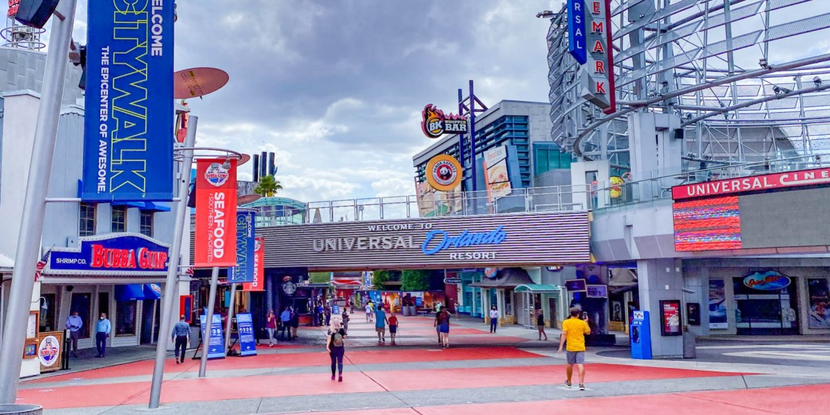 The entrance of CityWalk in Orlando.