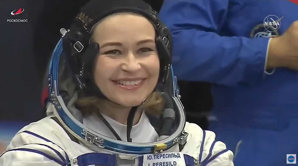 NASA TV still images from the pre-launch activities of the Soyuz MS-18 launch to the International Space Station on Oct. 5, 2021.