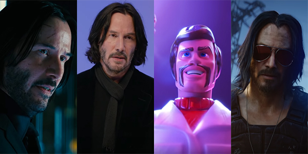 Keanu Reeves' roles in 2019