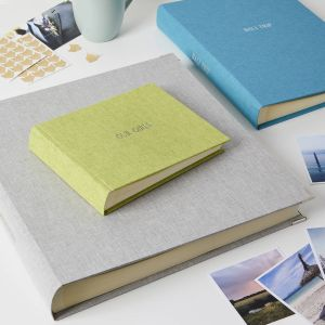 Luxury Personalised Photo Albums In Linen