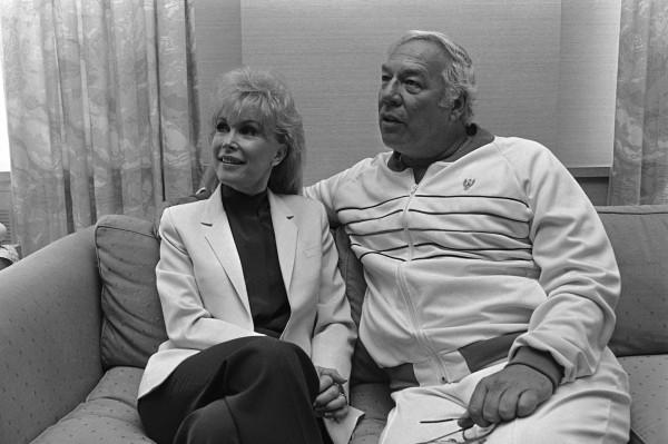 George Kennedy and his Chattanooga Choo Choo co-star Barbara Eden
