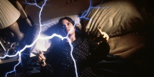 Carol Moran (Barbara Hershey) is attacked in The Entity