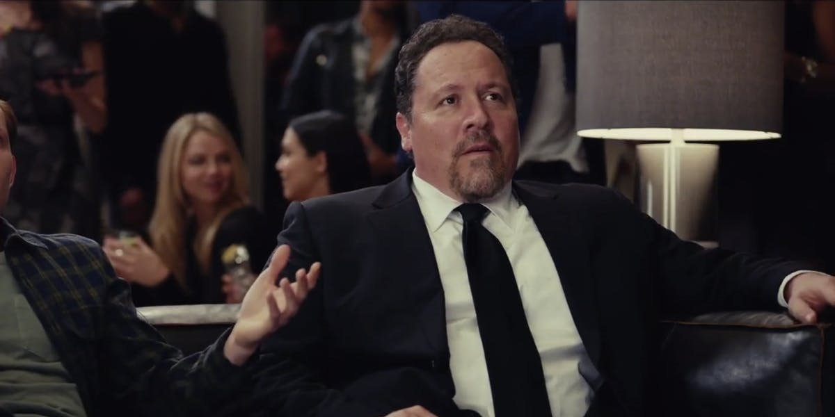 Jon Favreau in suit as Happy Hogan
