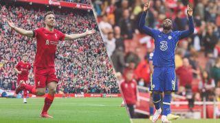 Liverpool vs Chelsea live stream – Diogo Jota of Liverpool and Romelu Lukaku of Chelsea